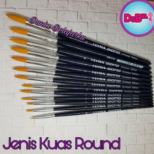 Foto Produk Kuas Lukis Lyra Giotto Brush Germani Taklon / Round Brush / Original - 00 dari Dunia Belajarku