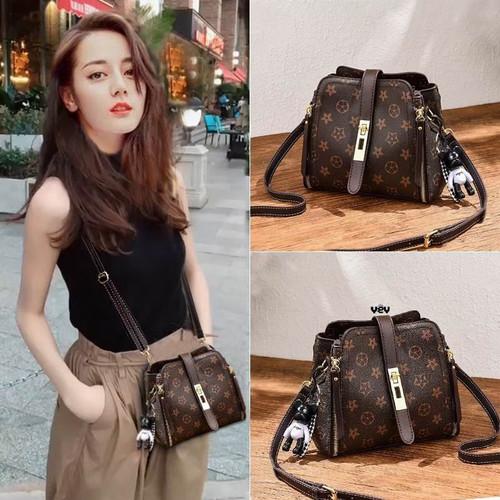 Foto Produk tas bahu wanita gaya korea tas punggung wanita tas selempang wanita - Cokelat dari inne_collection