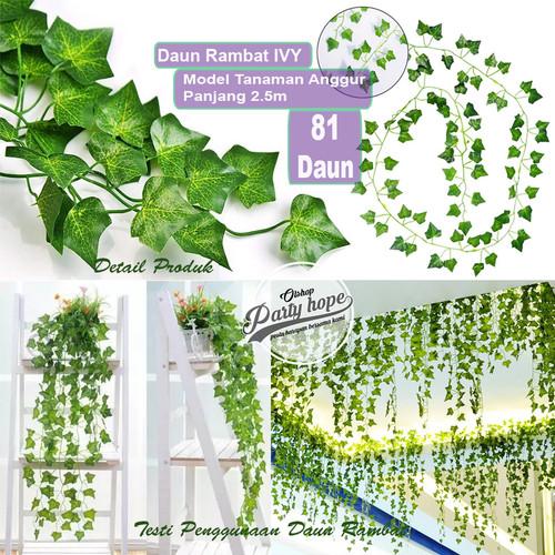 Foto Produk Daun Rambat Plastik / Hiasan Dinding Daun IVY Artificial / Daun Anggur dari PARTY HOPE 2