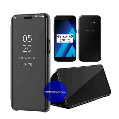 Foto Produk Flip Case Samsung Galaxy A5 A520 A5 2017 Clear View Standing Cover dari Vinvend ACC