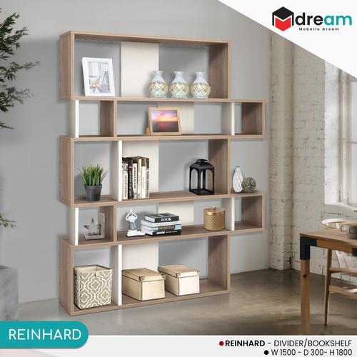 Foto Produk Rak Buku Pembatas Ruangan Bookshelf Elegan Modern dan Minimalis dari mobelio dream