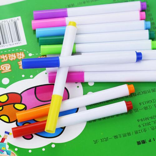 Foto Produk Buku Gambar Punya Refill Spidol 12 Warna / 12 Pcs Pen Warna Magic Book dari MULTI g