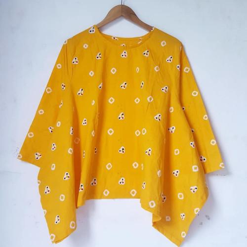 Foto Produk jumputan blus batik wanita kerja modern dari Batik Sri