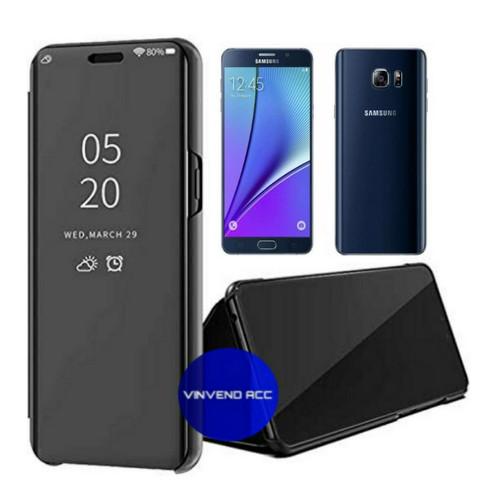 Foto Produk Flip Case Samsung Galaxy NOTE 5 NOTE5 Clear View Standing Cover dari Vinvend ACC