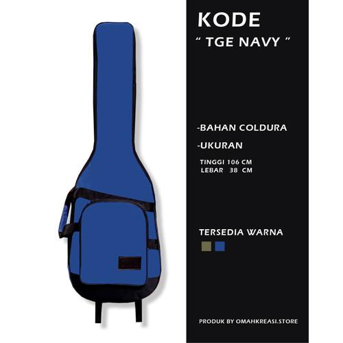 Foto Produk Softcase Tas Gitar Elektrik Semi Gigbag Dilengkapi Spons Tebal / TGE - Biru dari _OMAHKREASI