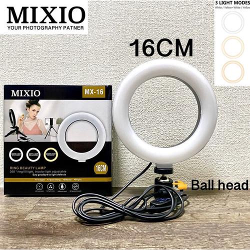 Foto Produk MIXIO RING LIGHT LED 26CM 20CM 16CM Make Up Vlog Live streaming - RING AJA 16CM dari 4acc