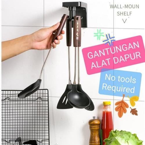Foto Produk Hook Holder Alat Dapur Putar 360 / Rotating Kitchen Holder - Hitam dari Home Diaries
