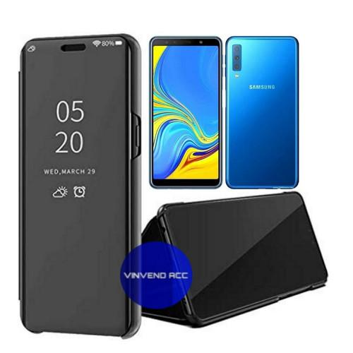 Foto Produk Flip Case Samsung Galaxy A7 2018 A750 Clear View Mirror Standing Cover dari Vinvend ACC