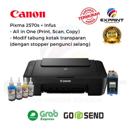 Foto Produk Printer Canon Pixma MG2570s All in One + infus Tabung Transparant - Tinta standar dari Exprint online