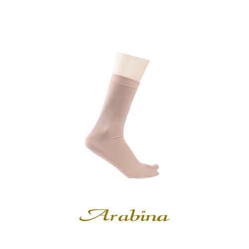 Foto Produk MUNDO ARABINA kaos kaki muslim wanita jempol sebetis dengan anti slip - Krem dari Mundo Sock Shop
