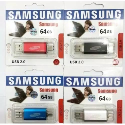 Foto Produk SAMSUNG FLASHDISK OTG 64GB / FLASH DISK OTG 64 GB USB dari Silica gel shop