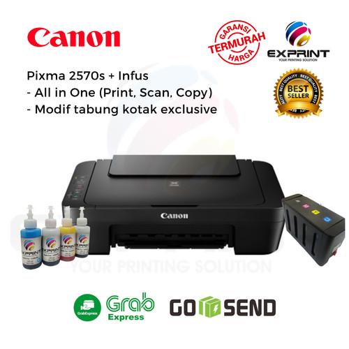 Foto Produk Printer Canon Pixma MG2570s All in one + Infus Tabung Box - Tinta Standar dari Exprint online
