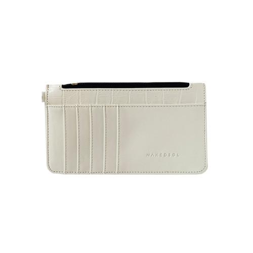 Foto Produk MIDI Croco Card wallet - Putih dari Nakedsol