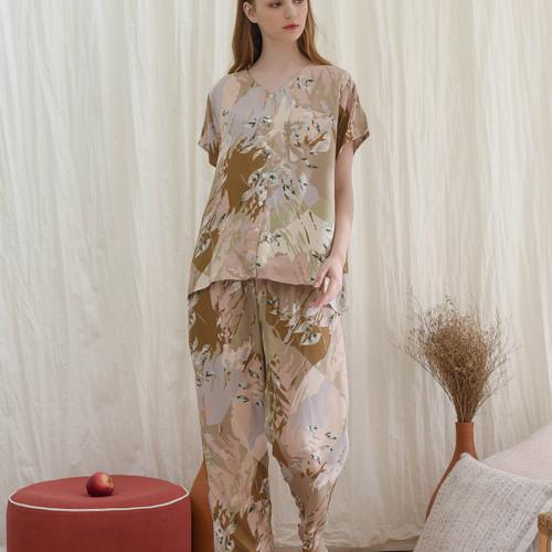 Foto Produk Arabella set in Pastel - Sleepwear / Piyama Baju Tidur Rayon by RAHA dari Raha Sleepwear