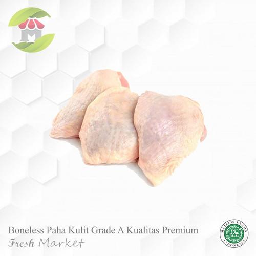 Foto Produk Fillet / Boneless Paha Kulit Ayam 1kg Filet Paha Ayam Kulit dari Fresh Market Jaksel
