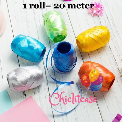 Foto Produk Tali pita balon helium ribbon per roll 20 meter - pink dari chic lit case