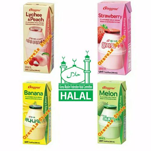 Foto Produk [Logo HALAL] Binggrae Flavored Milk Drink - ALL VARIAN - Lychee Peach dari Gravels Store