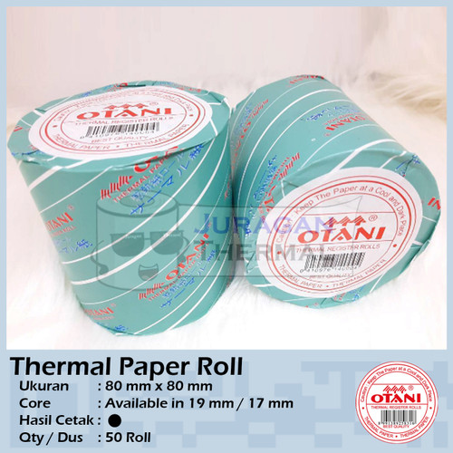 Foto Produk Kertas Struk Thermal OTANI 80 x 80 | Thermal Paper Roll OTANI 80 x 80 dari JSH Online Official