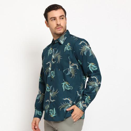Foto Produk KBT Kemeja Batik Songket Pria Panjang Kerja Kantor Slimfit Baju Batik - KBT 02, L dari ftslapparel