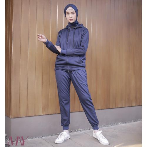 Foto Produk MAYZAHRA - Clea Hoodie (Navy) - Biru, S dari Nay Sportswear