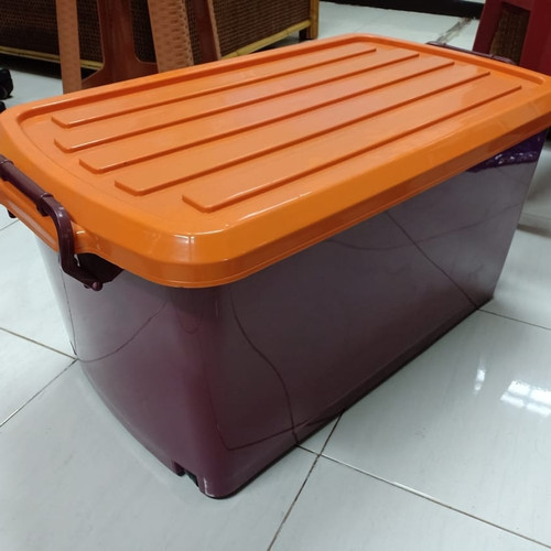 Foto Produk (Gojek Only ) Box Container Dgn Roda 90 Liter / Box Container 90L - Cokelat dari secretbasesby