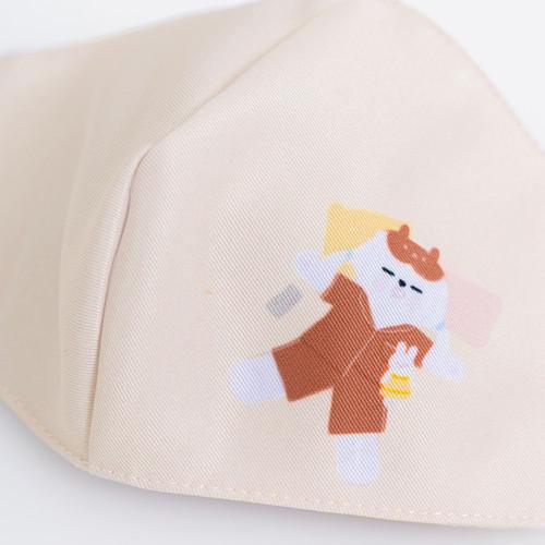Foto Produk Chocochips - Sleepy Daisy in Pajamas Mask [Cream]/Masker Kain dari Chocochips Official Shop