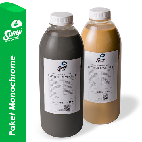 Foto Produk Paket Monochrome : Charcoal Latte 1liter + Kopi Susu Sunyi 1liter dari Sunyi House of Coffee and Hope