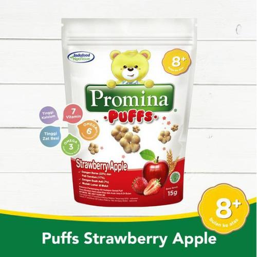 Foto Produk Promina Puffs Strawberry Apple 8+ 15gr dari Yen's Baby & Kid Official Shop