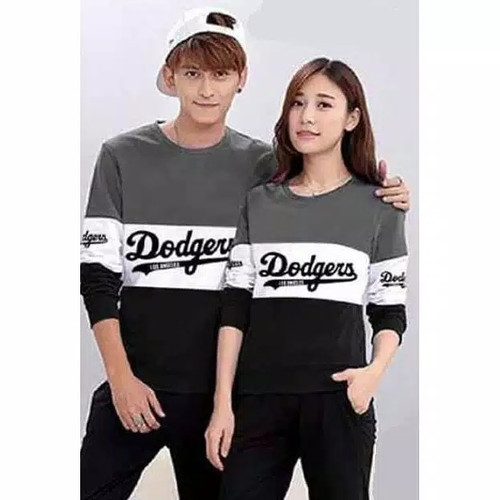 Foto Produk Sweater Couple LP Dodgers Kombinasi Abu dari Wallsticker shop