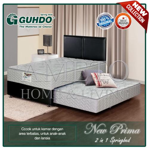 Foto Produk Guhdo Spring Bed 2 in 1 New Prima - 120 x 200 - Atlantic Full Set - Abu-abu dari Ameto Home Living