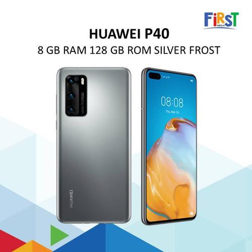 Foto Produk Huawei P40 8 GB RAM 128 GB ROM Silver Frost Smart Phone dari First Media Store