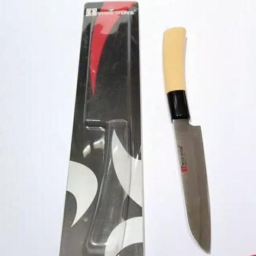 Foto Produk Pisau Dapur YING GUNS Stainless Steel - 12cm Gagang Kay dari KINKEAN
