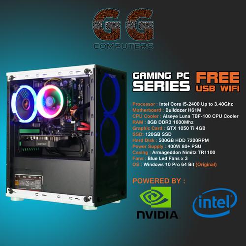 Foto Produk PC Gaming Intel | i5-2400 | GTX 1050TI | 8GB RAM |120GB SSD dari GGcomputers