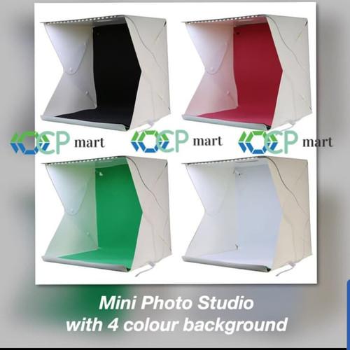 Foto Produk Mini Photo Studio Box Portable Lampu LED foto produk kotak lipat dari ocp mart
