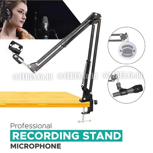 Foto Produk Stand Mic Meja klip / Boom Arm Microphone suspension Podcast,Gaming dari Cubus_Co_ID