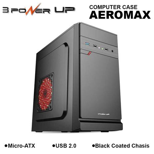 Foto Produk Computer Case 3 POWER UP Micro-ATX AEROMAX with PSU 500W dari 3 Power Up