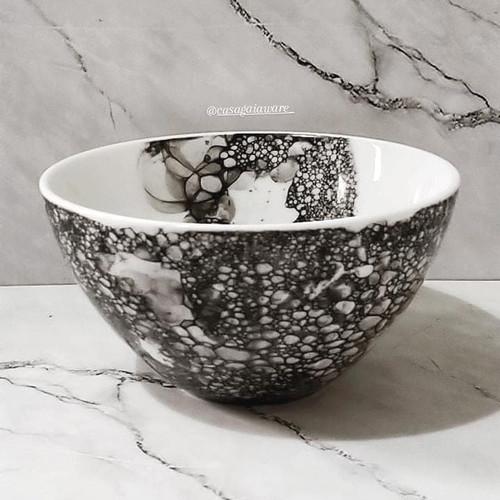 Jual Mangkok Keramik Mangkok Aesthetic Black Bubbles Bowl Kab Bogor Casa Gaia Ware Tokopedia