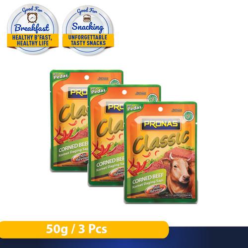 Foto Produk Pronas Kornet Sapi Chili kemasan Sachet 50 g dari Pronas Official Store