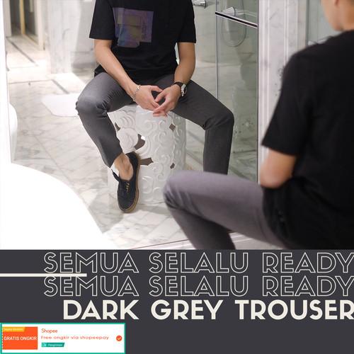 Foto Produk Celana bahan formal pria / trouser (dark grey) - 27 dari Froyemul