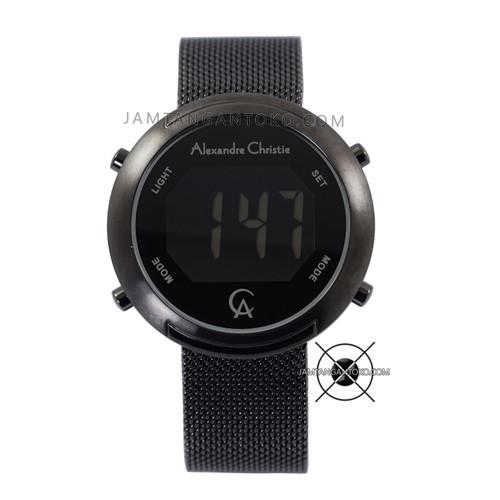 Foto Produk Jam Tangan Alexandre Christie AC 9337 LH Digital Mesh Full Black 38mm dari Jam Tangan Toko