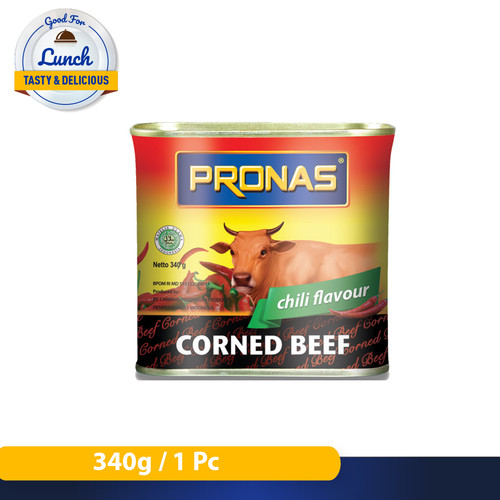 Foto Produk Pronas Kornet Sapi Chili (Kemasan Kaleng EOE) 340 g dari Pronas Official Store