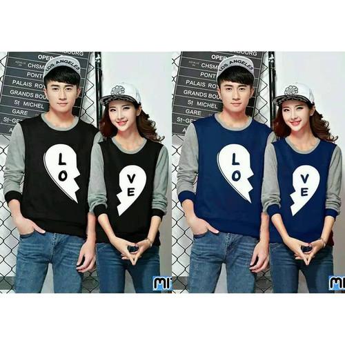 Foto Produk Sweater Couple LP Black Love dari Wallsticker shop