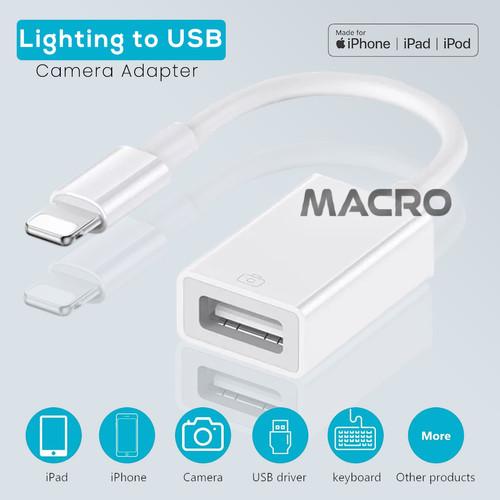 Foto Produk USB Camera Adapter To Iphone for Microphone Lighting Etc dari MACRO
