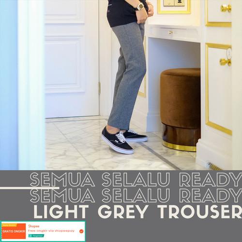 Foto Produk Celana bahan formal casual pria / trouser (light grey) - 27 dari Froyemul