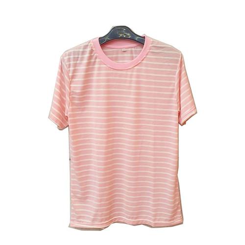 Foto Produk Kaos Pria Striple Salur Soft Katun Belang Garis Baju Cwo Lengan Pendek - PINK, S dari RisRus Apparel