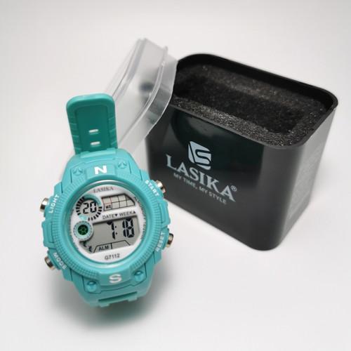 Foto Produk Jam tangan digital Anak dan remaja water Resist Lasika 7112 - hijau tosca dari Visica collection