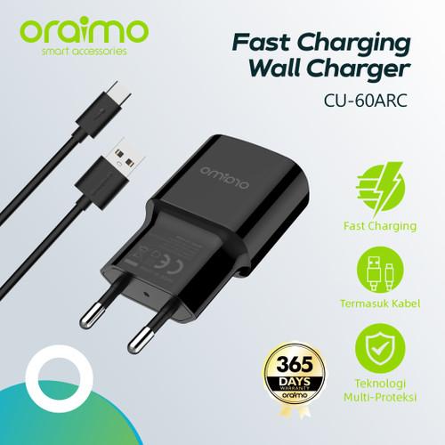 Foto Produk Oraimo Fast Charging Wall Charger dengan Kabel USB Type-C CU-60ARC - Putih dari Oraimo_indonesia