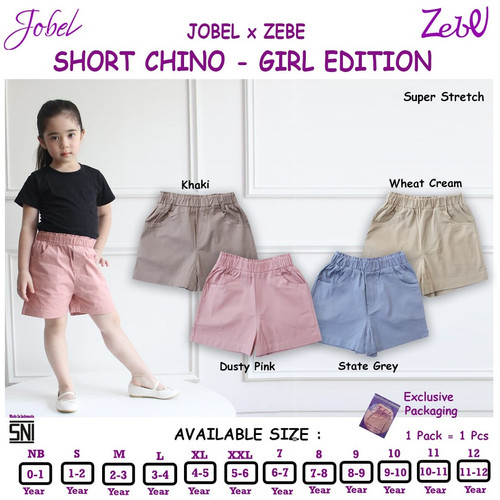 Foto Produk Zebe Short Chino GIRL Edition 1 pcs - Celana Pendek Anak Perempuan. - 7, Dusty Pink dari Babyklik - Baby Shop