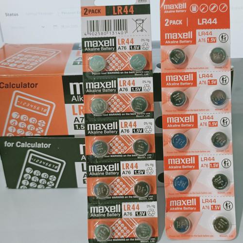 Foto Produk battery maxell original LR 44/LR1130/LR43/LR41 - LR44 / lembar dari PUTRA  JAYA