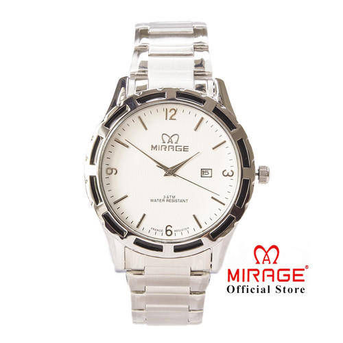 Foto Produk Jam Tangan Pria Office Casualwear Mirage Silver Original 8309M Pp dari Mirage Watch